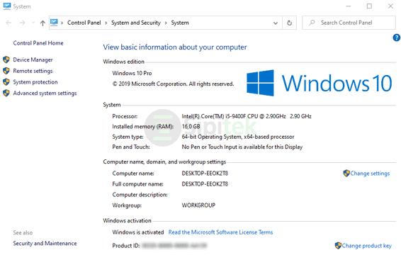 Informasi Dasar Windows