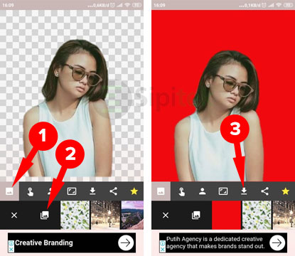 Simpan Foto Automatic Background Changer
