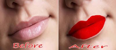 cara mewarnai bibir di photoshop
