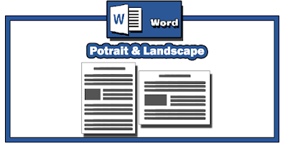 cara membuat layout potrait dan lanscape di word