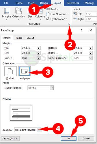 Page Setup Microsoft Word