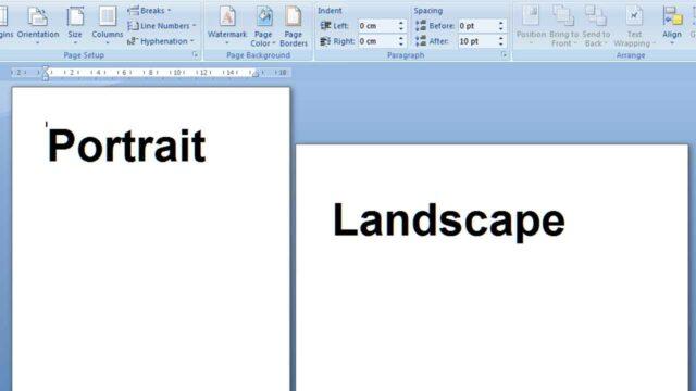 cara membuat layout potrait dan lanscape di word