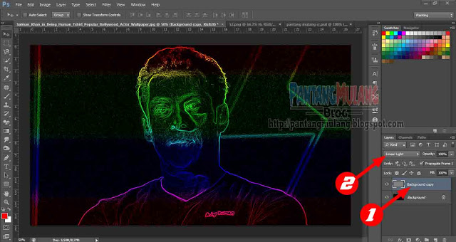 cara membuat efek glowing edges di photoshop