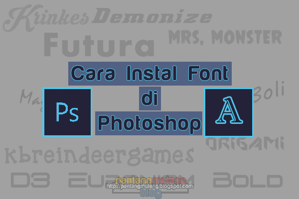 cara menambahkan font di photoshop