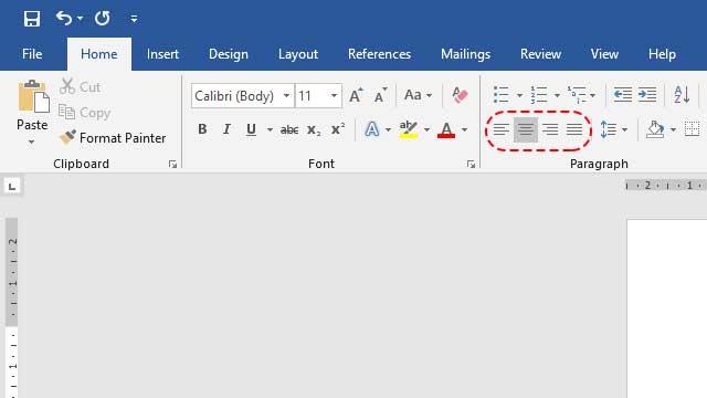 cara mengatur rata tulisan di Microsoft Word