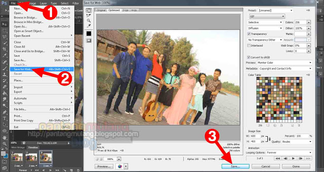 cara membuat slideshot di photoshop