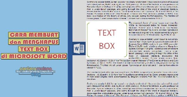 cara membuat dan menghapus text box