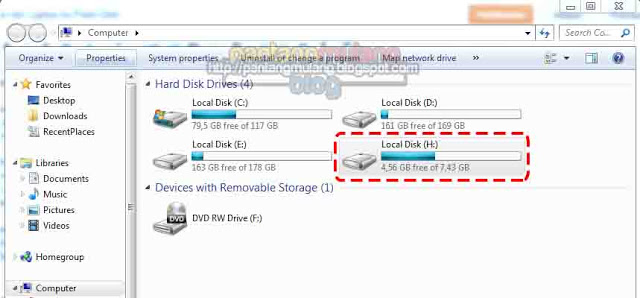 cara memindahkan data ke flashdisk