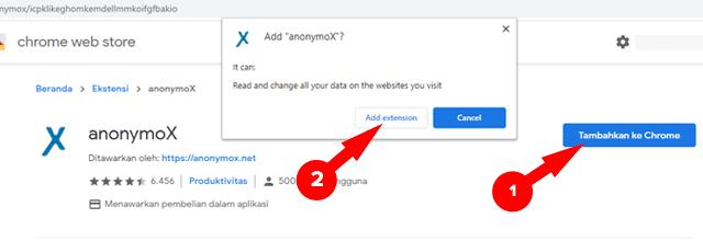 Memasang Anonymox Google Chrome