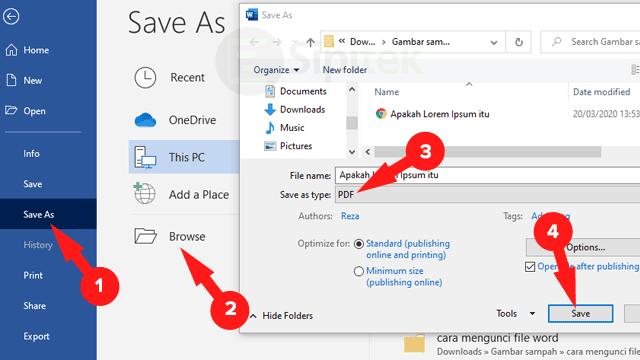 5 Cara Mengubah Word Ke Pdf Tanpa Aplikasi Di Hp Laptop