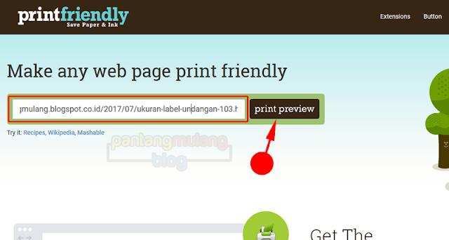 cara mencetak halaman web hasil browsing