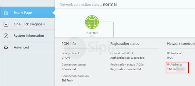Cek IP Router