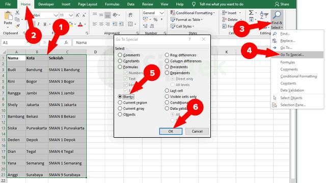 Hapus Baris Kosong Excel