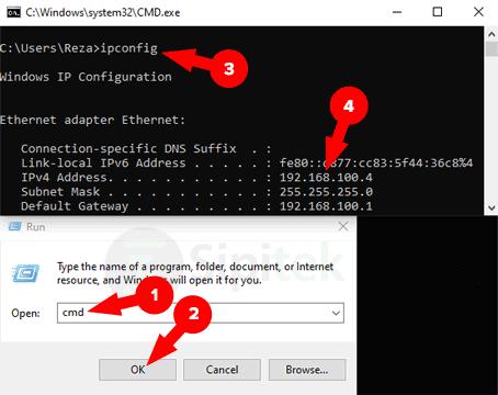 Melihat IP Lewat CMD