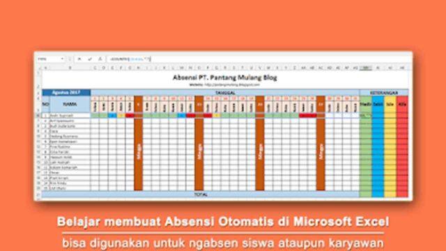 Cara Praktis Membuat Absensi Otomatis di Microsoft Excel