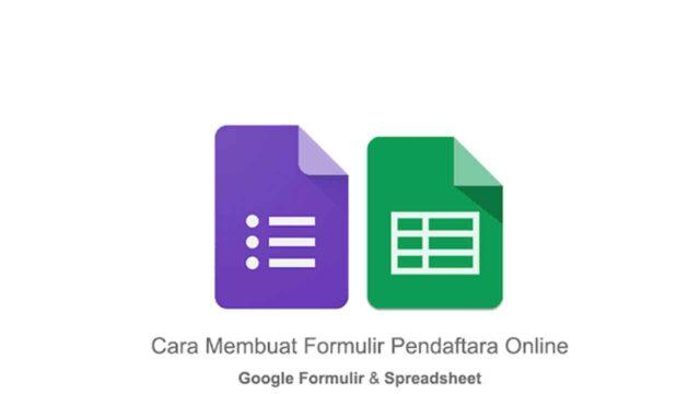 cara membuat formulir pendaftaran online di Google Form