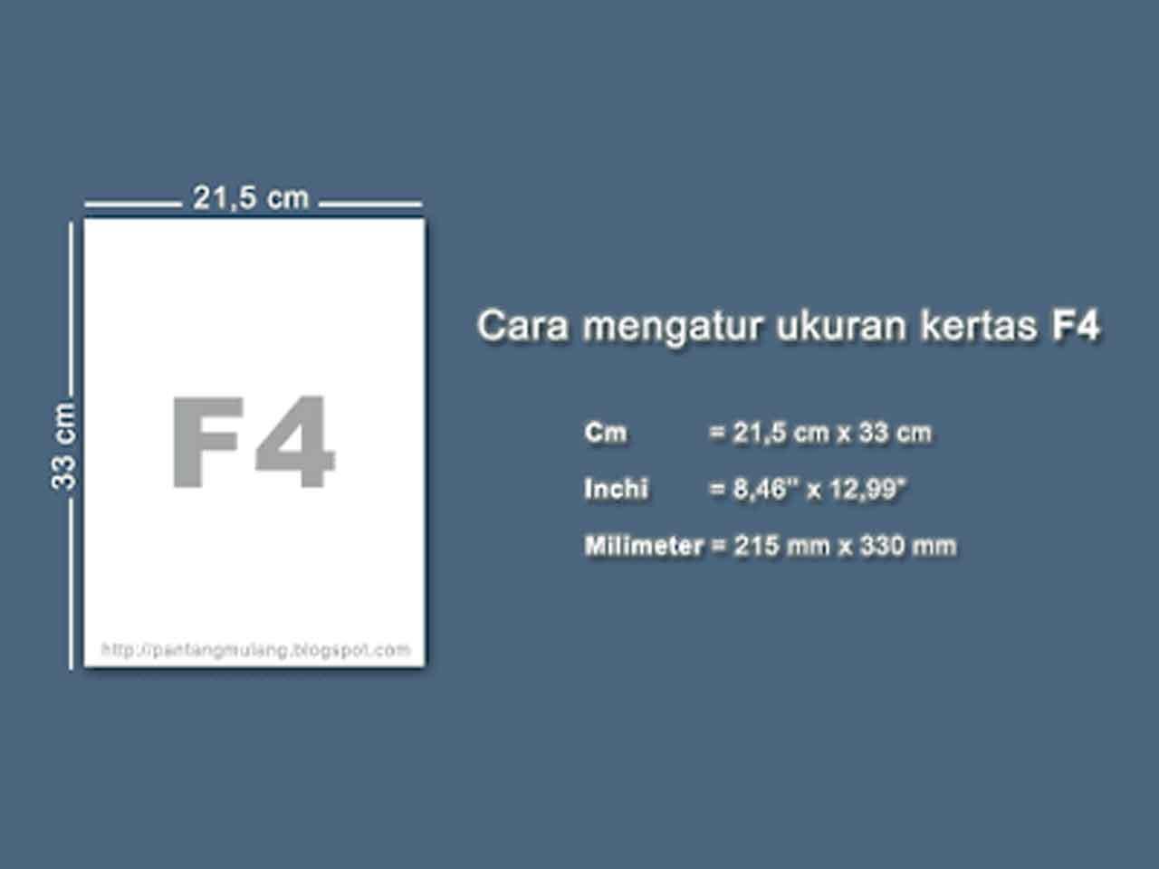 Cara Mengatur Ukuran Halaman Kertas F4 di Microsoft Word