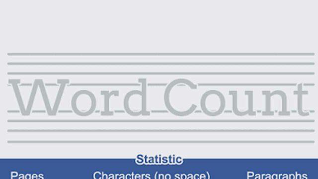 cara menghitung jumlah kata dan karakter word