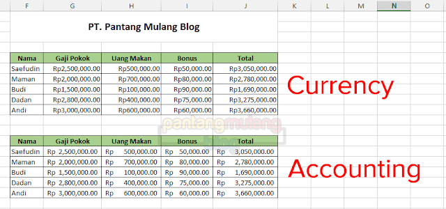 perbedaan currency dan accounting