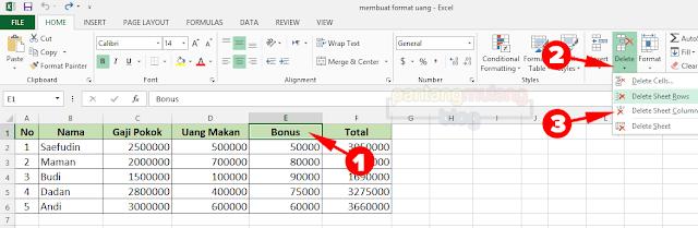 delete sheet columns