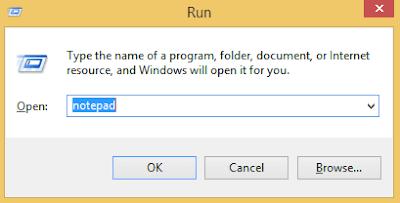 run notepad