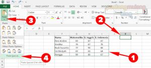 Cara Mengubah Data Baris menjadi Kolom atau Sebaliknya di Microsoft Excel
