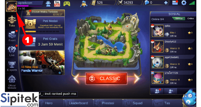 profile mobile legends