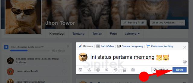membuat status
