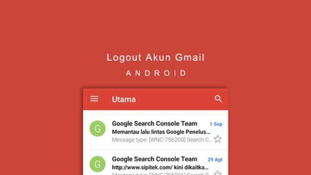 cara logout akun gmail di android