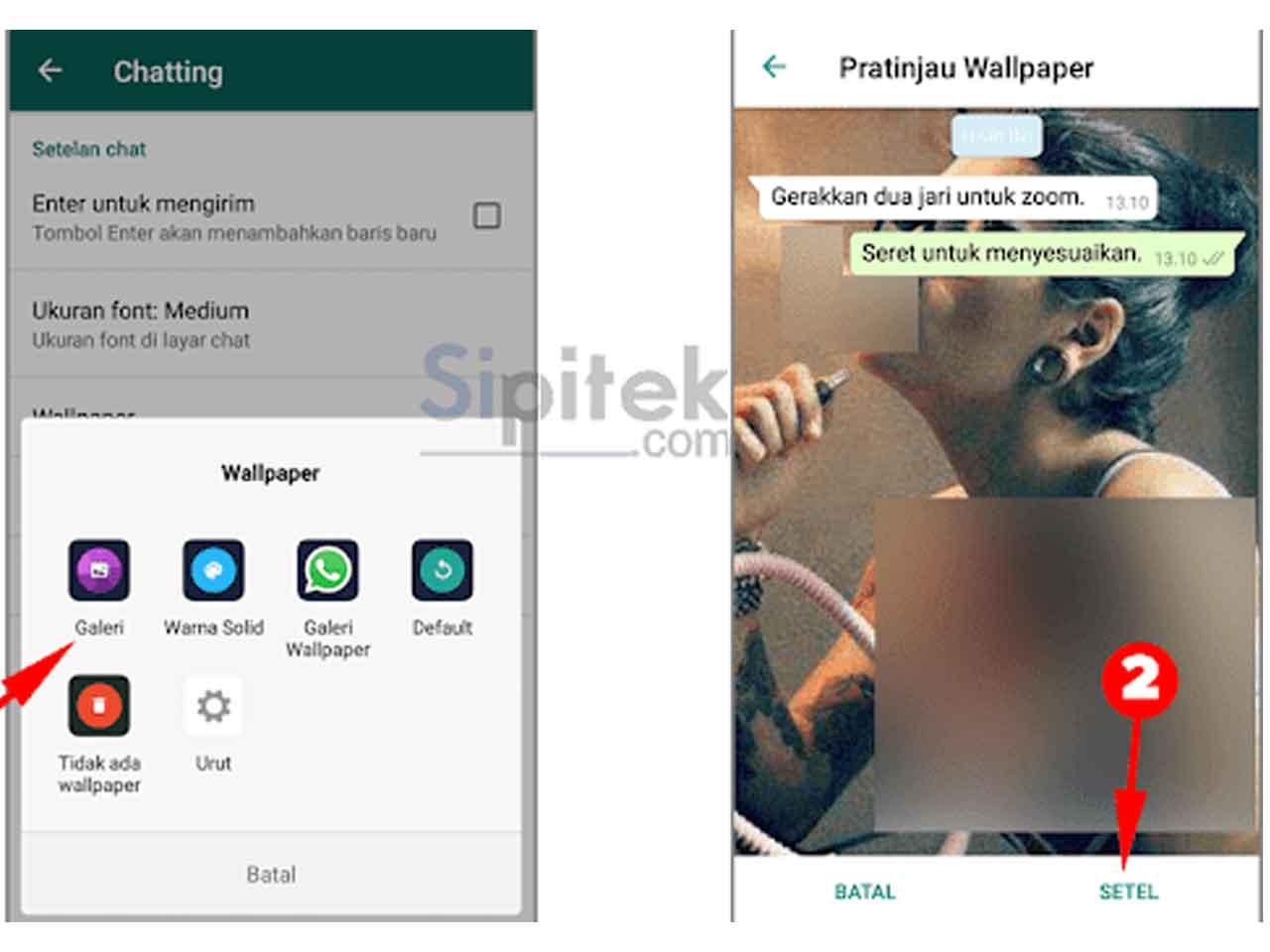 Cara Mengganti Background Wallpaper Chat Whatsapp Dengan