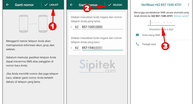 cara mengganti nomor WhatsApp tanpa menghapus akun