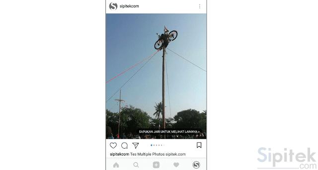 cara upload banyak foto di instagram