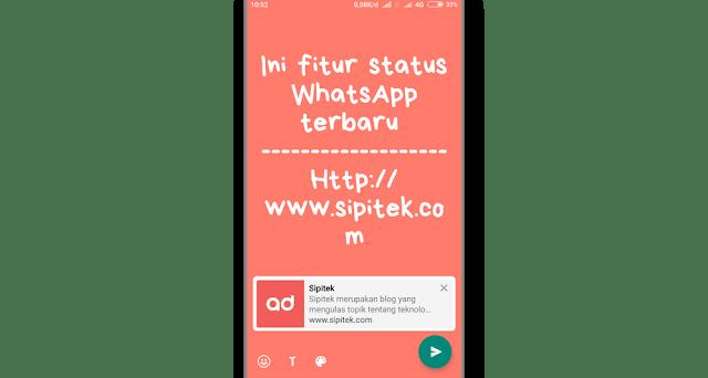 status tulisan dengan backgroun whatsapp