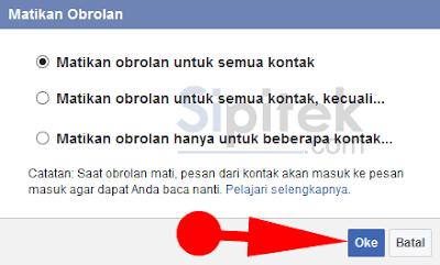 matikan obrolan facebook