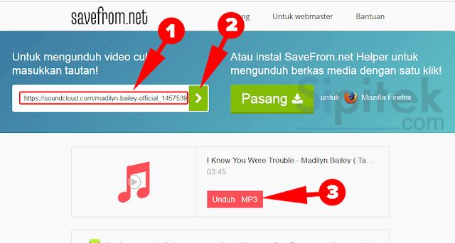 tempel URL lagu