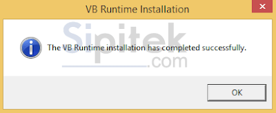 VB Runtime terinstal