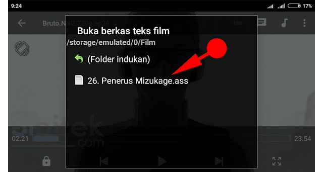 pilih subtitle