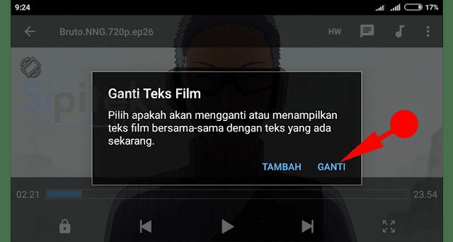 ganti teks film