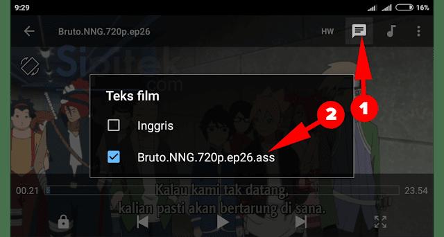 pilih teks film