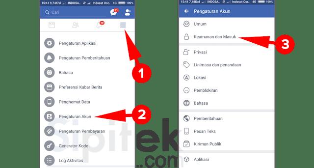 pengaturan keamanan akun facebook