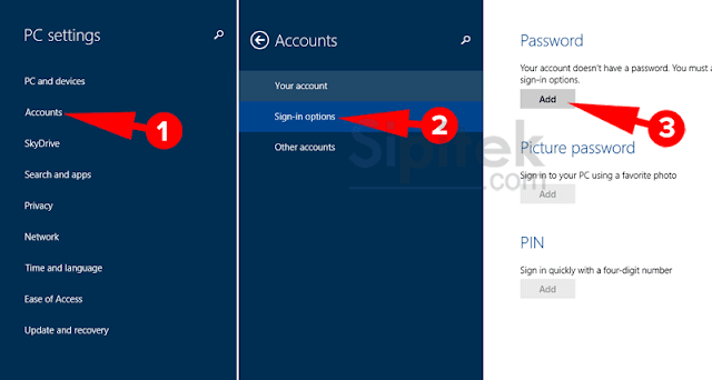 menggunakan password hint windows 8