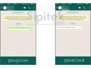 hapus pesan terkirim di Whatsapp