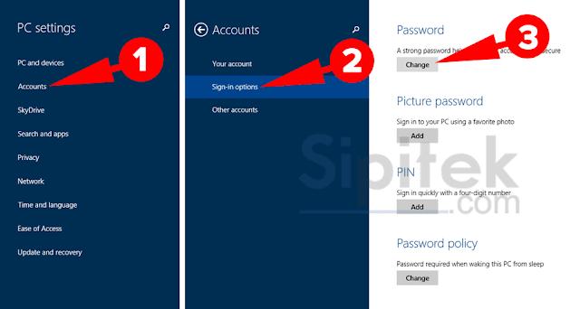Ubah password Windows