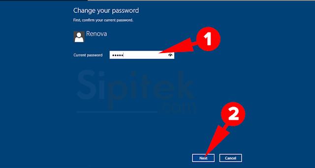 Masukkan password lama
