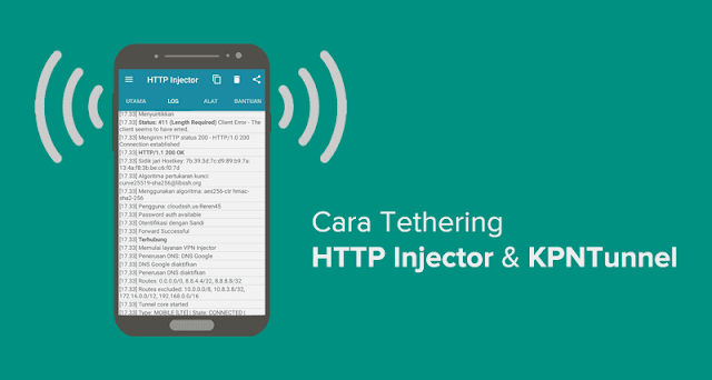cara tethering HTTP injector