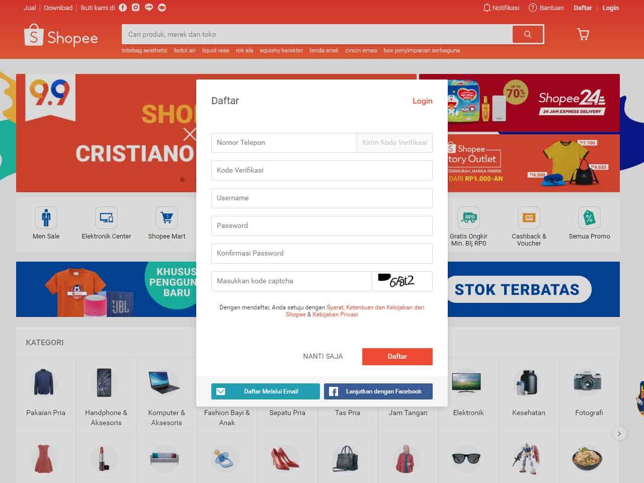 Cara Membuat Akun Shopee untuk Jualan dan Belanja