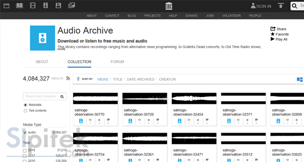 Internet Archives Audio