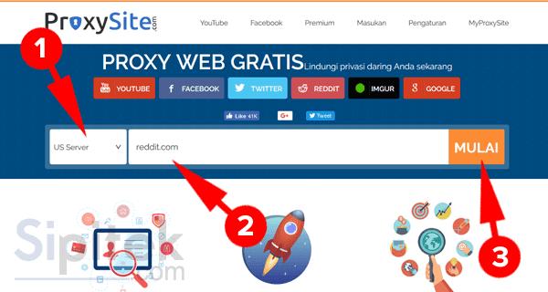 menggunakan proxysite