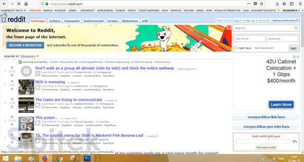 berhasil membuka reddit