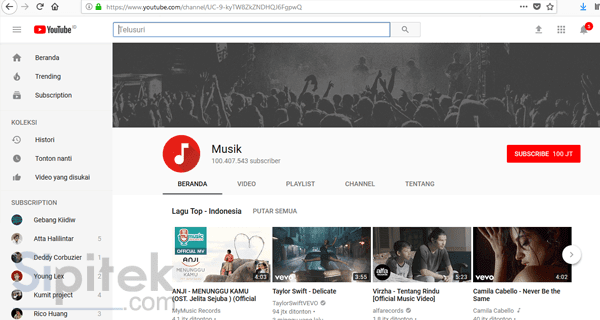 Youtube musik
